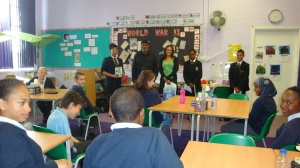 Reading to an audience takes practise, skill...and sometimes improvisation!