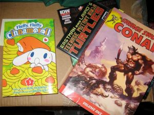 Cinnamoroll, Conan, The Turtles and Ghostbusters... it all makes for a good read!