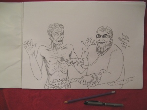 Zombie Reflux by Leilanie Stewart... pencil and ink