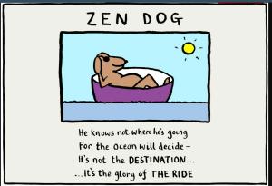 Zen Dog - copyright Edward Monkton