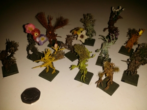 A lot to contend with - miniatures painted and decorated by Leilanie Stewart